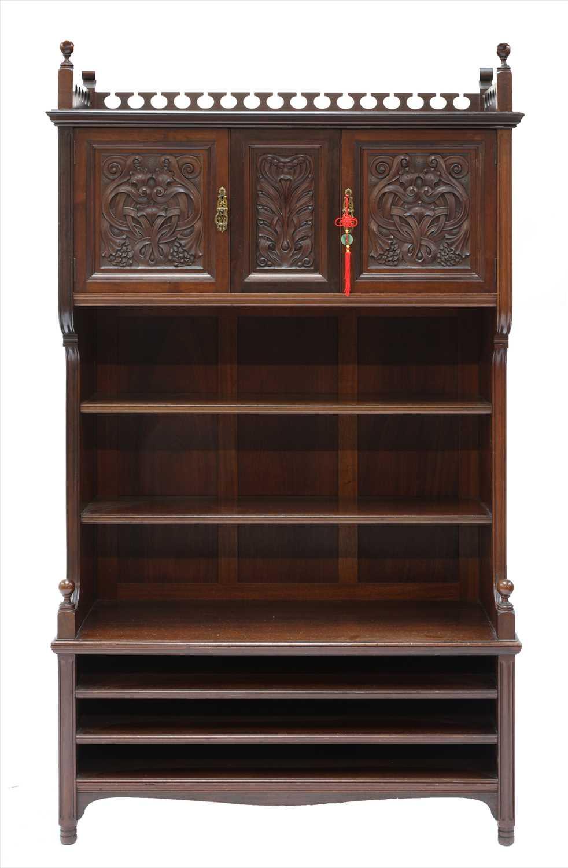 Lot 18-A walnut side cabinet
