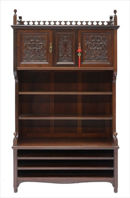 Lot 18-A walnut side cabinet