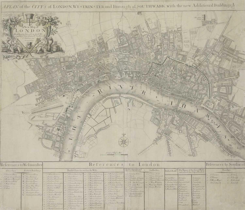 Lot 20-JOHN SENEX MAP OF LONDON