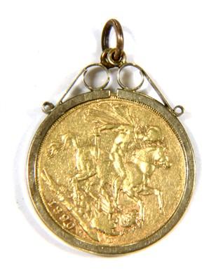 Lot 1014-An 1890 sovereign