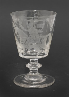 Lot 24-A George IV glass goblet