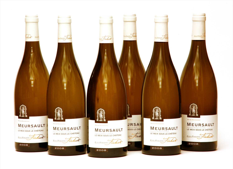 Lot 10-Jean-Philippe Fichet, Les Meix Sous Le Château, Meursault, 2008, six bottles (boxed)