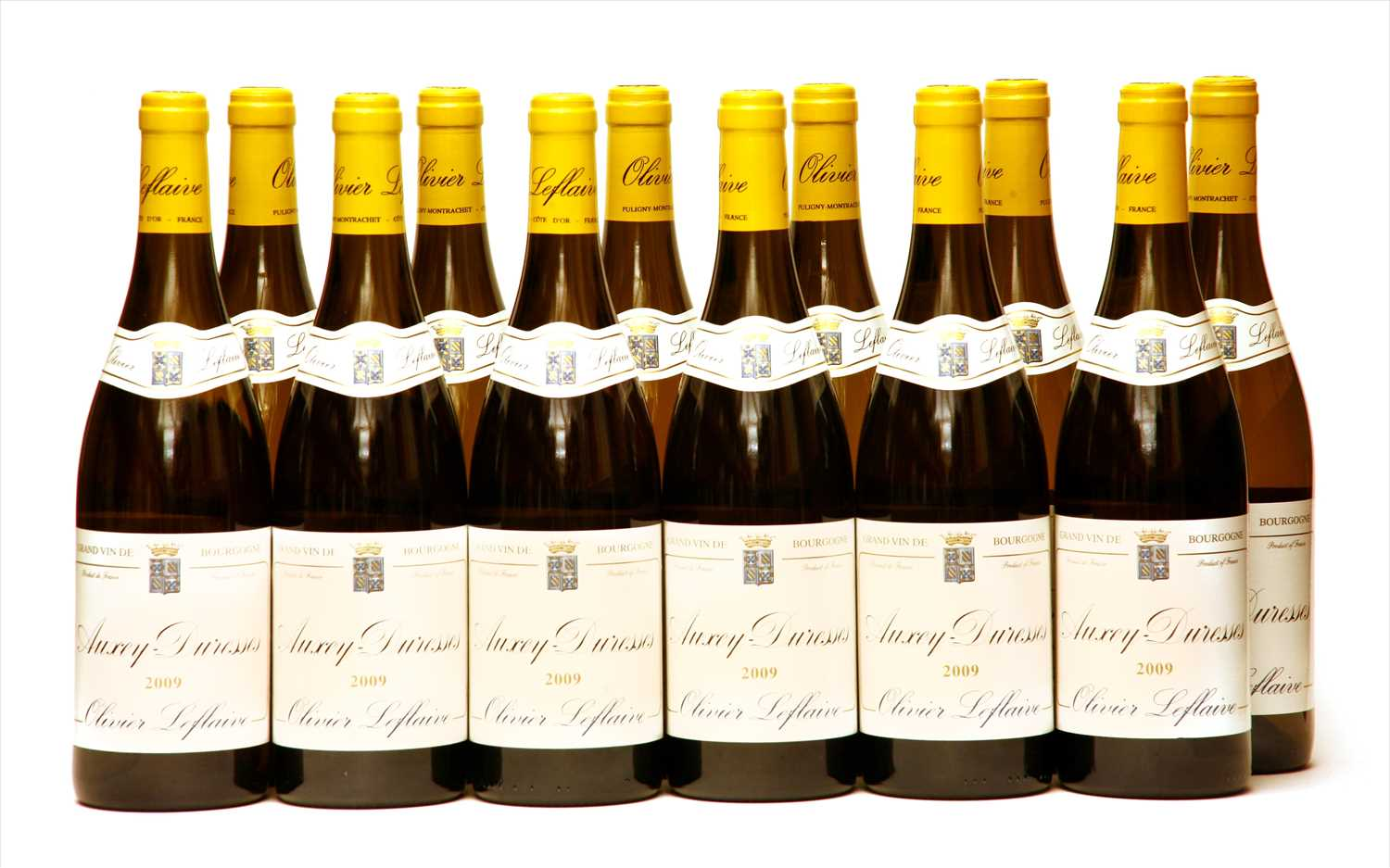 Lot 11-Olivier Leflaive, Auxey Duresses, 2009, twelve bottles (boxed)