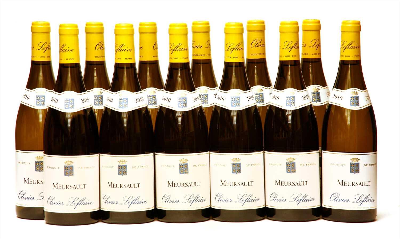 Lot 14-Olivier Leflaive, Meursault, 2010, twelve bottles (boxed)
