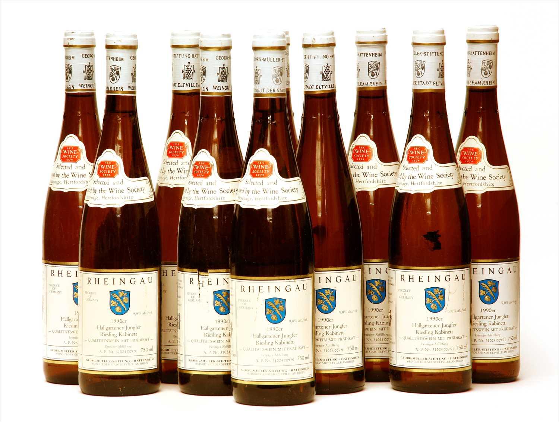 Lot 16-Georg Müller Stiftung, Hallgartener Jungfer Riesling Kabinett, 1990, ten bottles