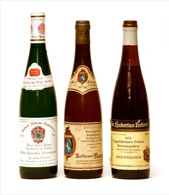 Lot 2-Assorted: Balthasar Ress, 1971; St. Hubertus-Kellerei and another, three bottles in total