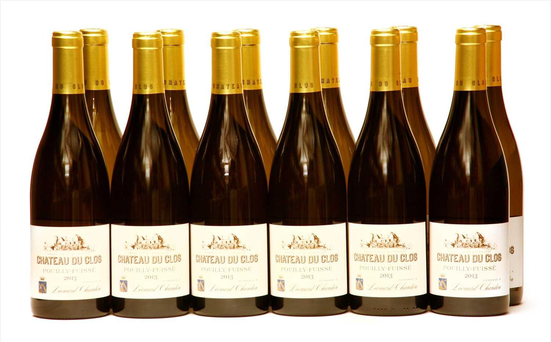 Lot 21-Chateau du Clos, Pouilly-Fuissé, 2013, twelve bottles (boxed)