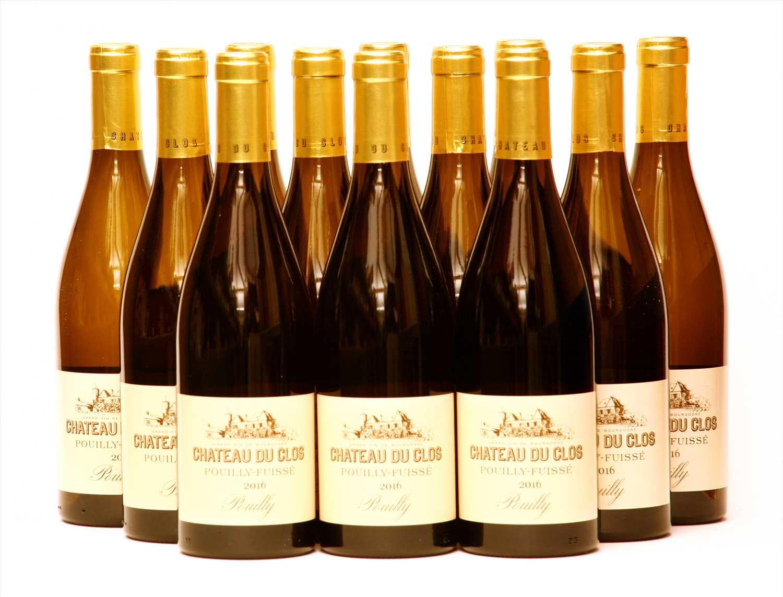 Lot 22-Chateau du Clos, Pouilly-Fuissé, 2016, twelve bottles (boxed)