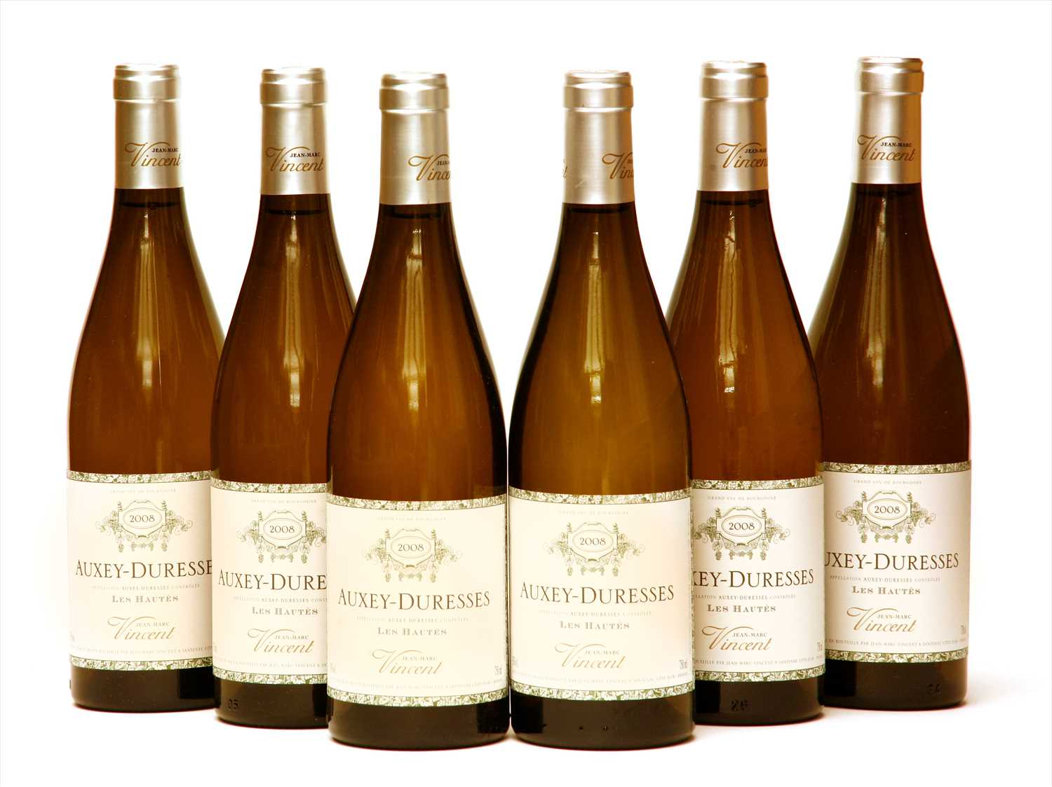 Lot 24-Jean-Marc Vincent, Auxey-Duresses, Les Hautés, 2008, six bottles (boxed)