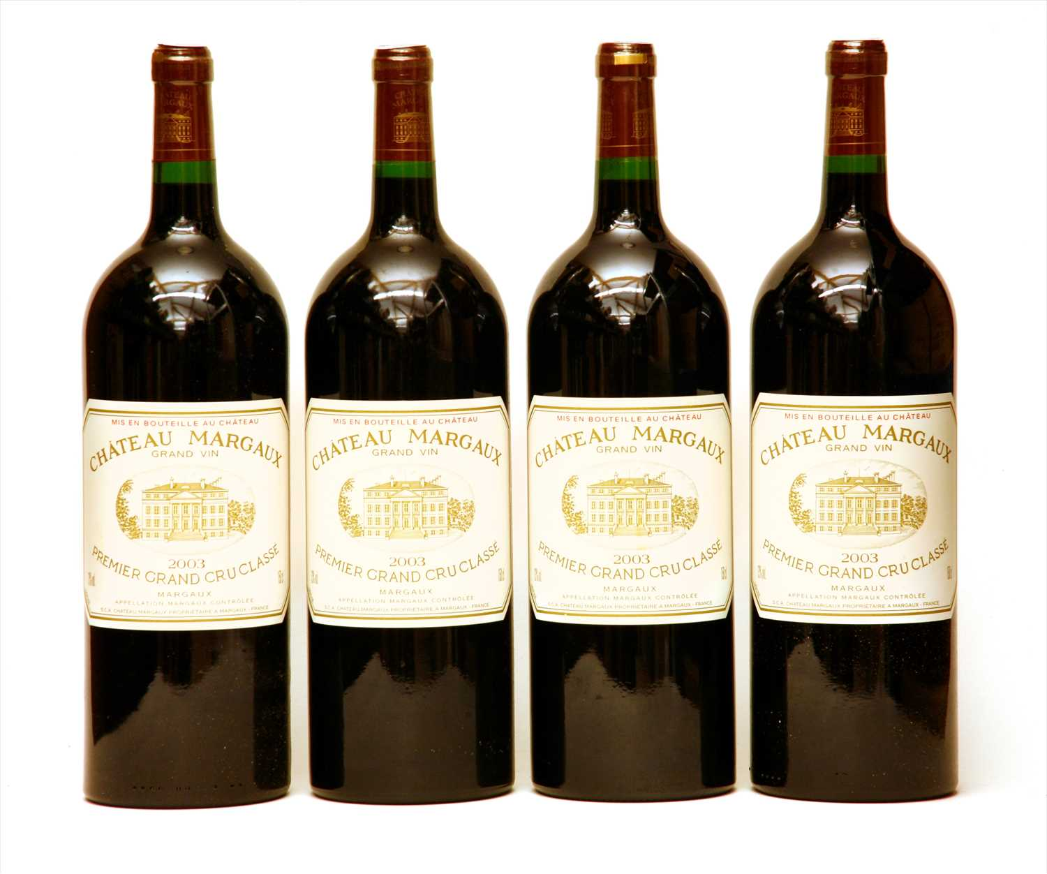 Lot 345-Château Margaux, Margaux, 1st growth, 2003, four magnums (in opened owc)