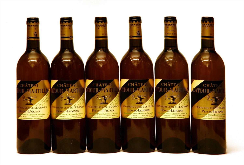 Lot 25-Ch Latour-Martillac Blanc, Pessac-Léognan , 1998, six bottles (in opened owc)