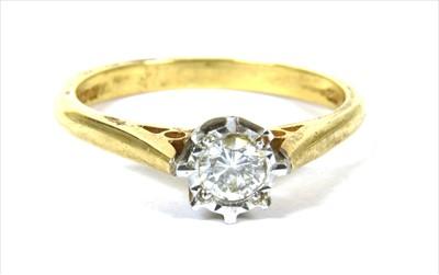 Lot 2-An 18ct gold single stone diamond ring