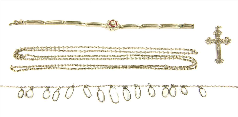 Lot 18-A silver paste cluster bracelet