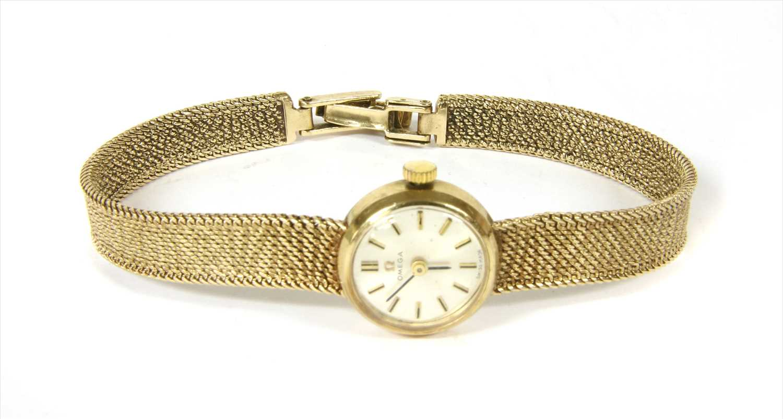 Lot 25-A ladies' 9ct gold Omega mechanical bracelet watch
