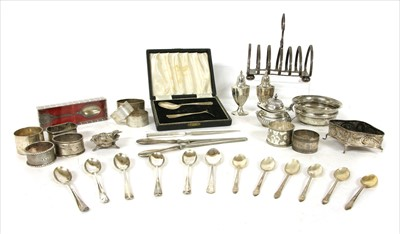 Lot 31-A box of various silver items