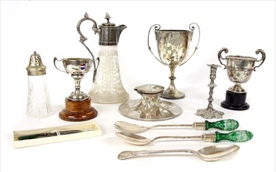 Lot 43-Silver and silver plated items