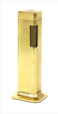 Lot 45-A Dunhill gold plated 'Tallboy' lighter