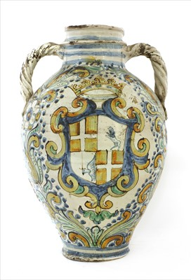 Lot 3-A large Sicilian Caltagirone storage jar