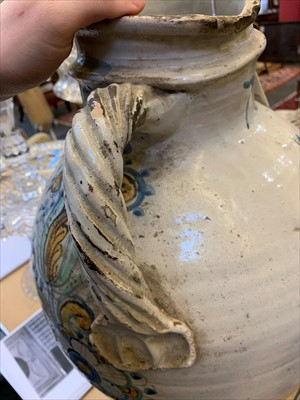 Lot 3-A large Sicilian Caltagirone storage jar