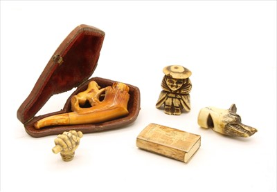 Lot 44-A Japanese bone netsuke figure