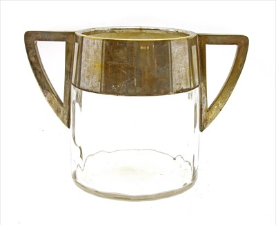Lot 87 - A silver-plated 'Meteor' wine cooler