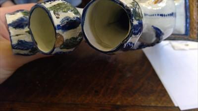Lot 6-A Prattware tulip vase