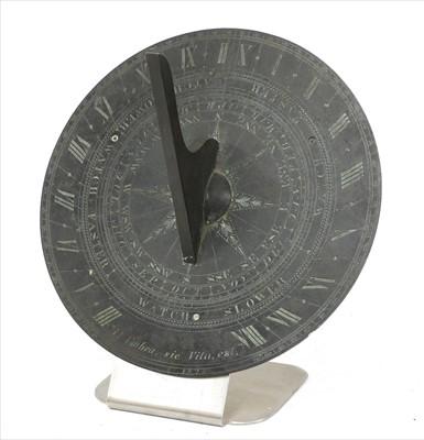 Lot 43-A bronze sundial