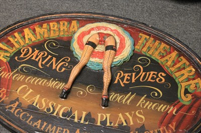 Lot 16-'ALHAMBRA THEATRE' TILLER GIRLS SIGN