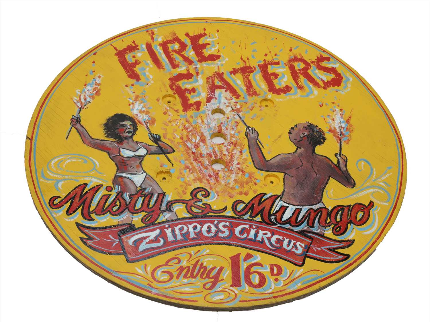 Lot 21-FIRE EATERS SIGN