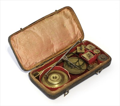 Lot 1000-A brass and steel coin scale