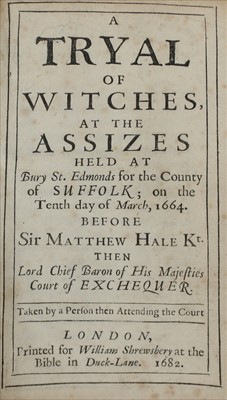 Lot 40-RARE TRYAL OF WITCHES BOOK