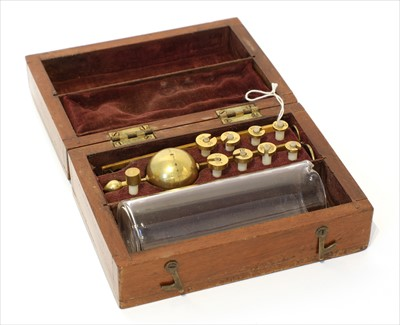 Lot 1009-A mahogany cased hydrometer