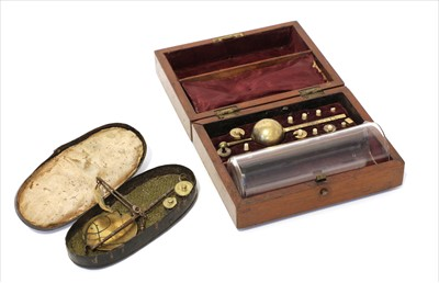 Lot 1011-A mahogany cased hydrometer