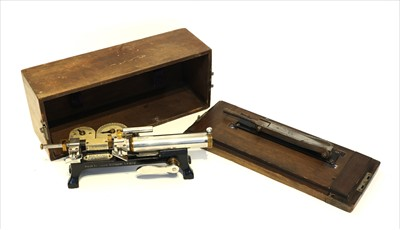 Lot 1012-A mahogany cased cow's milk tester