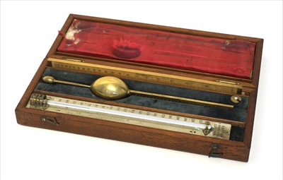 Lot 1015-A mahogany cased saccharometer