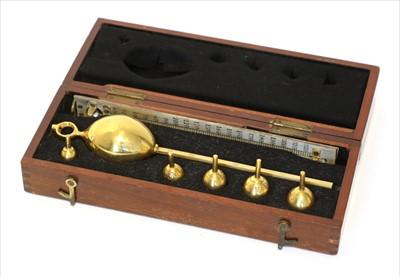 Lot 1017-A mahogany cased saccharometer