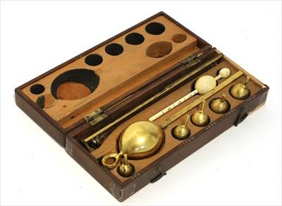 Lot 1021-A Bate's mahogany cased saccharometer