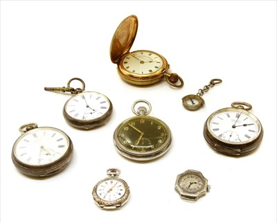 Lot 32-A collection of silver pocket watches