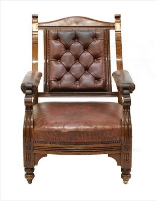 Lot 1-A walnut armchair