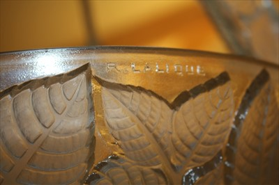 Lot 110 - A pair of Lalique 'Charmes' glass plaffoniers