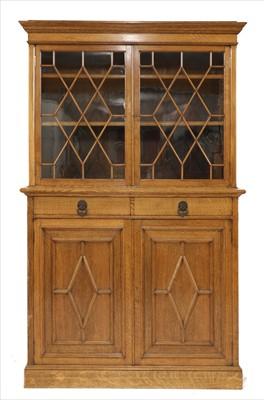 Lot 93 - An oak bookcase