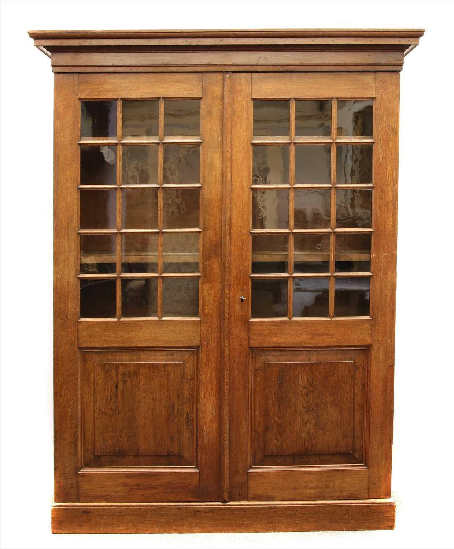 Lot 8-An oak cabinet