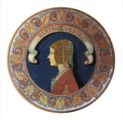 Lot 46 - A French majolica charger