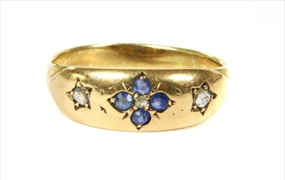 Lot 7-A 15ct gold sapphire and diamond ring