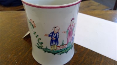 Lot 17-A Worcester porcelain chinoiserie mug
