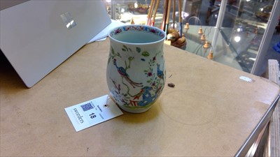 Lot 18-An English porcelain mug