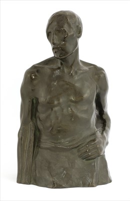 Lot 34-A French School patinated bronze figure