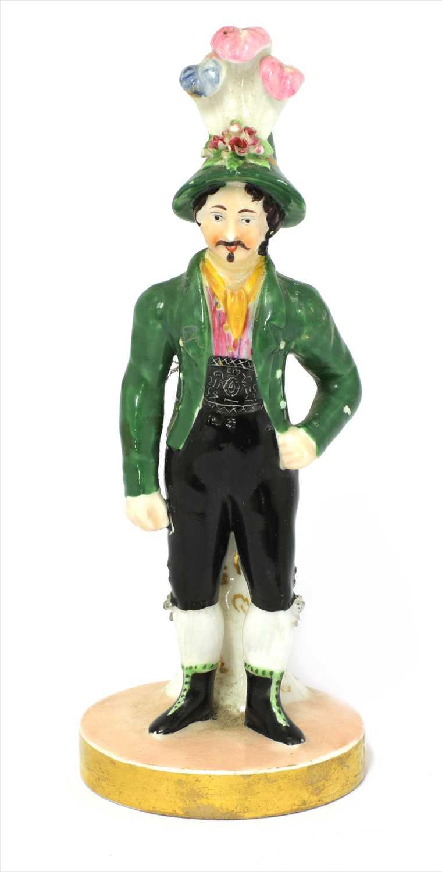 Lot 10-A Chamberlains Worcester figure