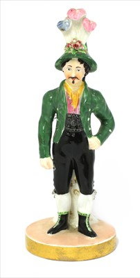 Lot 10-A Chamberlains Worcester figure