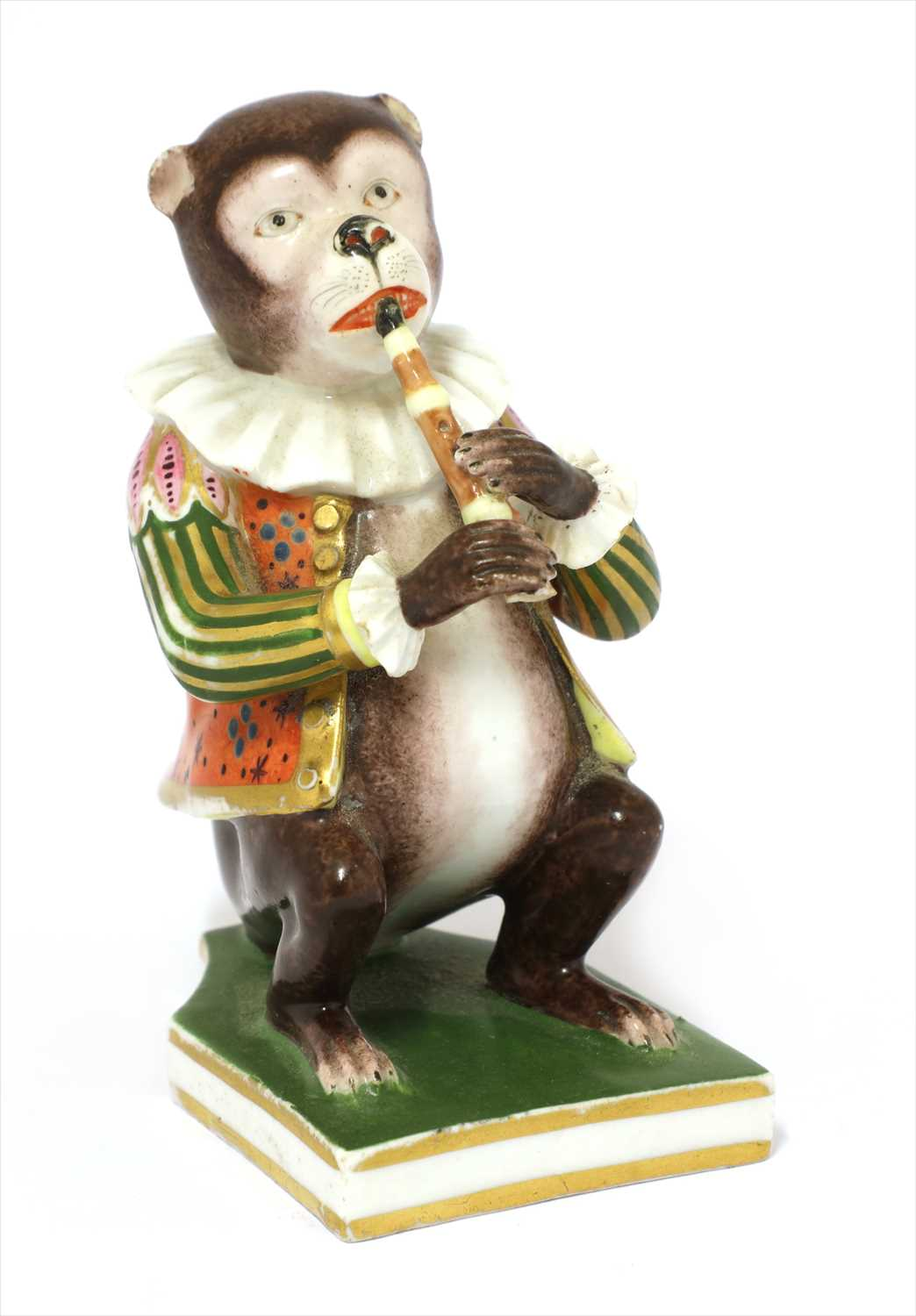 Lot 12-A Derby monkey musician